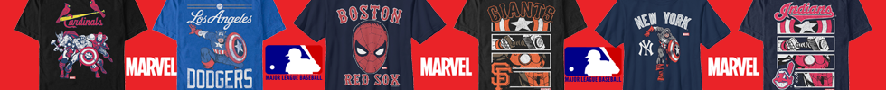 Shop Licensed Marvel | MLB T-shirts | VolatileMerch.com